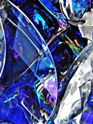 Cut Glass Prints - Glass Abstract 117 Print by Sarah Loft
