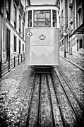 Trolley Posters - Gloria Funicular Poster by Lusoimages