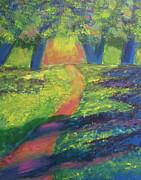 Glowing Path Print by Diana Riukas