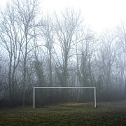 Soccer Goal Framed Prints - Goal Framed Print by Bernard Jaubert