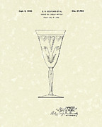 Fancy Drawings - Goblet 1932 Patent Art by Prior Art Design