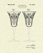 Glass Art Drawings Posters - Goblet 1938 Patent Art Poster by Prior Art Design