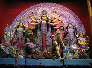 Goddess Durga Photos - Goddess Durga by Pradipkumarpaswan