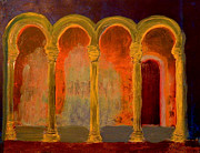 Prague Castle Paintings - Golden Arches by Oscar Penalber