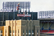 Cleveland Indians Stadium Posters - Good Times Bad Times Poster by Kenneth Krolikowski