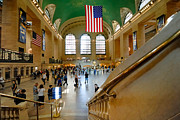 American Flag Posters - Grand Central Station New York city Poster by Amy Cicconi