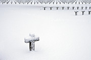 Repetition Prints - Graveyard In Snow Print by Dirk Ercken