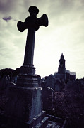 Gloomy Metal Prints - Graveyard Metal Print by Joana Kruse