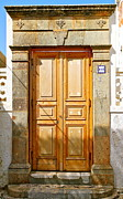 Lindos Posters - Greek Door Poster by John Babis