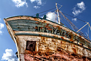 Wooden Ship Prints - Greek Fishing Boat Print by Stylianos Kleanthous