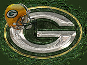 Winter Sports Digital Art Framed Prints - Green Bay Packers Framed Print by Jack Zulli