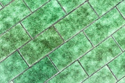 Green Tiles Print by Tom Gowanlock