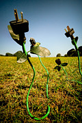 Electrical Plug Prints - Growing Green Energy Print by Amy Cicconi