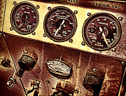 Analog Metal Prints - Grunge Gauges  Metal Print by Olivier Le Queinec