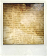 Parchment Prints - Grunge newspaper Print by Les Cunliffe