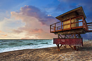 Florida House Prints - Guarding the Beach Print by Debra and Dave Vanderlaan