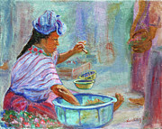 Mayan Paintings - Guatemala Impression IV by Xueling Zou