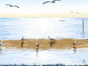 Gulls Framed Prints - Gulls Framed Print by Veronica Minozzi