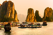 Halong Bay - Vietnam Print by Luciano Mortula