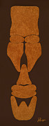African Pyrography - Hamite Male by Jerry Ruffin