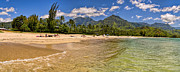 Tunnels Beach Prints - Hanalei Bay Print by Gordon Engebretson