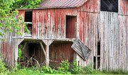 Old Barns Acrylic Prints - Hanging by a Moment  Acrylic Print by JC Findley