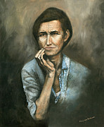 American Contemporary Western Painting Originals - Hannah -Timeless Beauty by Mary Ellen Anderson