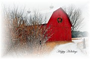 Christmas Greeting Photo Framed Prints - Happy Holidays Framed Print by Terri Gostola