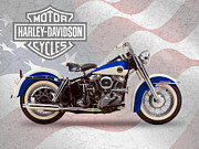 Harley Framed Prints - Harley-Davidson Duo-Glide Framed Print by Mark Rogan