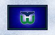 Skating Framed Prints - Hartford Whalers Framed Print by Joe Hamilton