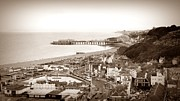 Town Pier Framed Prints - Hastings Framed Print by Sharon Lisa Clarke