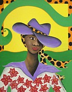 Gullah Art Prints - Hat Appeal Print by Patricia Sabree
