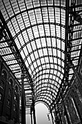 Ceiling Framed Prints - Hays Galleria roof Framed Print by Elena Elisseeva
