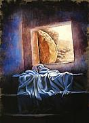 Christian Posters - He Is Risen Poster by Susan Jenkins