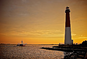 Barnegat Inlet Prints - Heading Out Print by Mark Miller