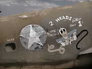 Nose Art Posters - 2 Heads Are Better Than 1 Poster by Ken Smith
