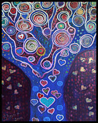 Ushonah Hutchings Framed Prints - Heart Tree Framed Print by Ushonah Hutchings