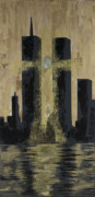 2001. World Trade Center. Paintings - Held Before 9-11 by Renee Nolan-Riley