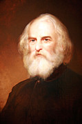 Longfellow Prints - Henry Wadsworth Longfellow Print by Cora Wandel