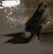 Photo-manipulation Framed Prints - Her Bedroom Slippers Framed Print by Steven  Digman