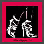High Stepping Posters - High Heels Poster by David Skrypnyk