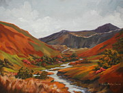 Lisa Phillips Owens Painting Prints - Highland Stream Print by Lisa Phillips Owens