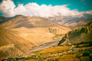 Kali Framed Prints - Himalayas road to Upper Mustang Framed Print by Raimond Klavins