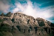 Landscape Prints Prints - Himalyas mountains in Tibet with clouds Print by Raimond Klavins
