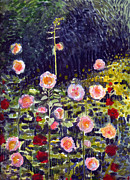 Katherine Miller - Hollyhocks