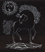 Horse Drawing Print by Angel  Tarantella