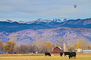 Hot Air Balloon Photos - Hot Air Balloon Rocky Mountain County View by James Bo Insogna