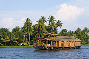 Houseboat Framed Prints - Houseboats on the Kerala Backwaters Framed Print by Robert Preston