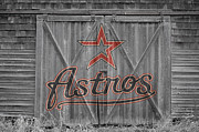 Baseball Bat Metal Prints - Houston Astros Metal Print by Joe Hamilton