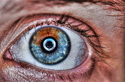 Tone Mapped Prints - Human Eye Print by Guy Viner